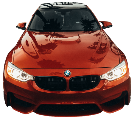 bmw front red transparent